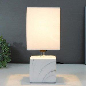 Лампа настольная 16375/1 E27 40Вт бело-серый 16х16х29 см