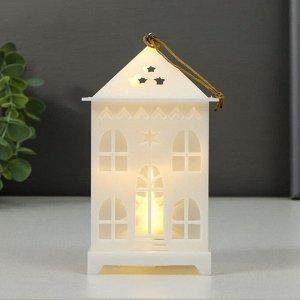 """Ночник """"Сказочный домик"""" LED от батареек 3хLR44 белый 7.3х7.3х13 см"""