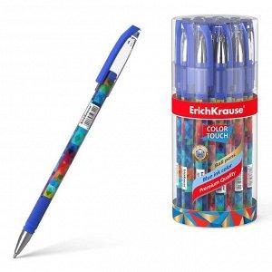 Ручка шариковая Erich Krause ColorTouch Patchwork, чернила/синие 50742