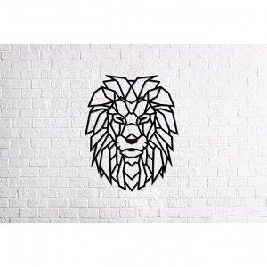 Деревянный интерьерный пазл «Лев»