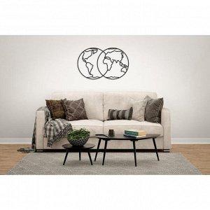 Деревянный интерьерный пазл EWA Design «Полушария Земли»