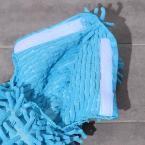 Насадка для плоской двусторонней швабры Доляна, 40?10 см, микрофибра букли, цвет МИКС
