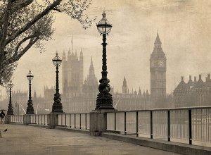 Фотообои Лондон сепия