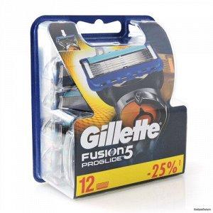 Gillette FUSION Proglide (12шт) RusPack orig