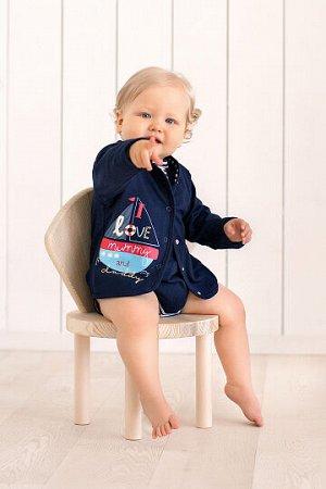 Кофточка Состав: Хлопок 100 % Эта кофточка отлично подойдет для вашего замечательного малыша. Яркая, удобная, веселая, она создана дарить комфорт и отличное настроение! Она невероятно практичная и лег