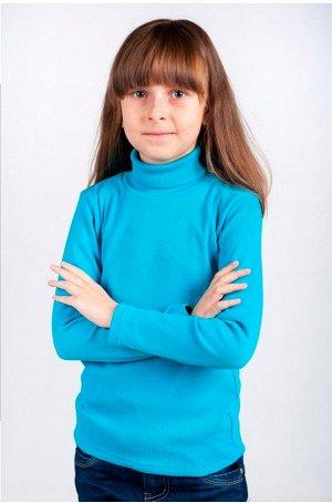Водолазка детская голубая утеплённая