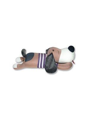 """Антистрессовая игрушка """"Пес тельняшка"""", коричневый"""