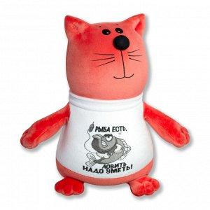 """Антистрессовая игрушка """"Кот в футболке""""(рыба есть)"""