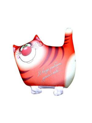 """Антистрессовая подушка-игрушка """"Звери Улыбки"""" маленькие (кот рыжий)"""