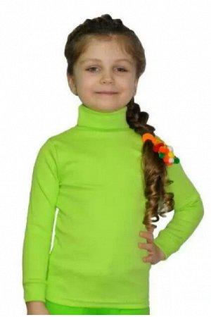 Водолазка детская кислотно-зелёная утеплённая