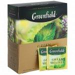 Чай Гринфилд Зеленый Мелиса 100пак