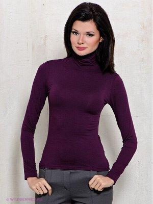 Водолазка женская тёмно-фиолетовая утеплённая