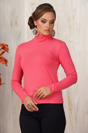 Водолазка женская нежно-розовая