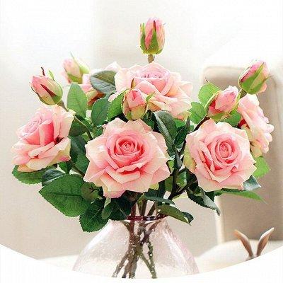 🌹Искусственные цветы для декора!🌸Родительский день🥀 — Розы от  7 рублей! — Искусственные растения