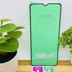 """Керамическое """"стекло"""" (пленка) 100D для SAMSUNG M31S / A5 (2020) / A9 (2020) FULL GLUE (на полный экран, полный клей, салфетки в комплекте)"""