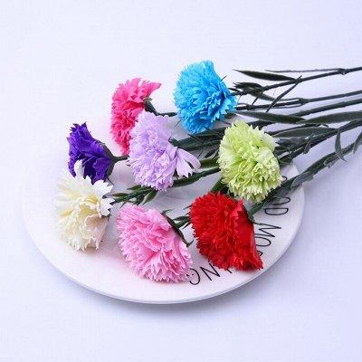 🌹Искусственные цветы для декора!🌸Родительский день🥀 — Гвоздики 4 рубля. — Искусственные растения