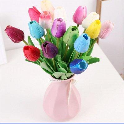 🌹Искусственные цветы для декора!🌸Родительский день🥀 — Тюльпаны. Цветок Весны! — Искусственные растения