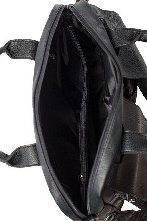 Сумка Цвет: Черный; Материал: Искусственная кожаДлина 30 см Высота 28 см Ширина 9 см
