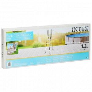 Лестница для бассейнов до 132 см, 4 ступеньки, с площадкой, 28067 INTEX