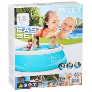Бассейн надувной Easy Set, 183 х 51 см, от 3 лет, 28101 INTEX