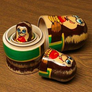 "Матрёшка-животное ""Ёжик"", 3-х кукольная"