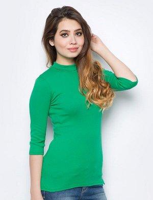 Водолазка женская нежно-зелёная