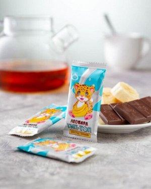 Шоколад молочный Леопард Тип-Топ с бананом
