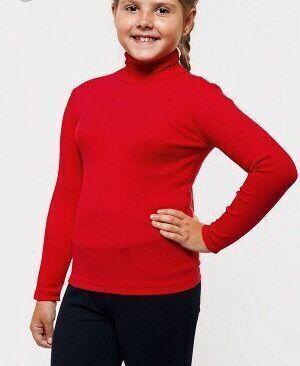 Водолазка детская красная утеплённая