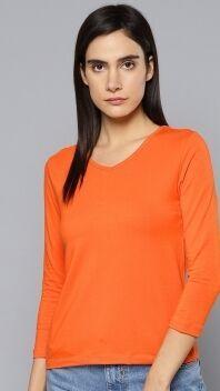 Лонгслив женский оранжевый