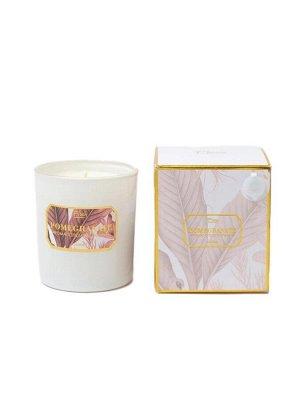 """Свеча Pomegranate Floox, 12,2х12,2х10 см, цв.мультиколор, комбинированные материалы, вес 150 гр, ароматическая, аромат """"гранат"""", в стеклянном стакане"""