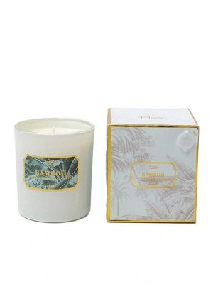 """Свеча Bamboo Floox, 12,2х12,2х10 см, цв.мультиколор, комбинированные материалы, вес 150 гр, ароматическая, аромат """"бамбук"""", в стеклянном стакане"""