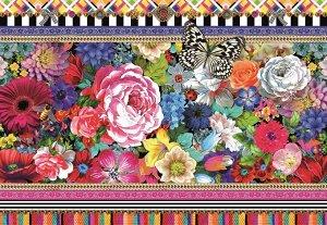 Фотообои Яркие цветы и бабочка