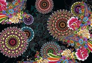 Фотообои Цветочные круги