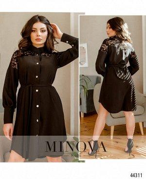 Платье №8633-черный