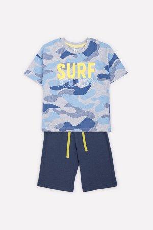 Комплект для мальчика Crockid К 2752 серо-голубой меланж + синий космос к1263