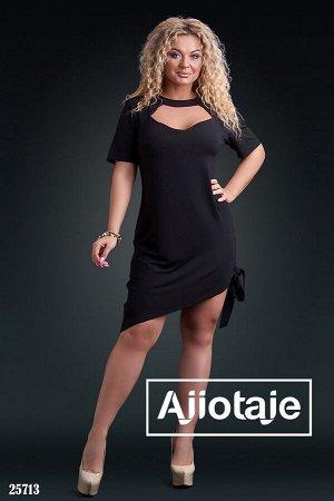 Асимметричное платье черного цвета