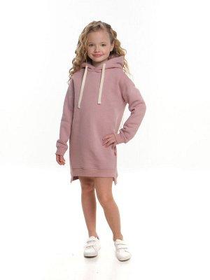 Платье худи (с начесом) UD 7505 пудра