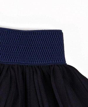 Школьная синяя юбка для девочки Цвет: синий