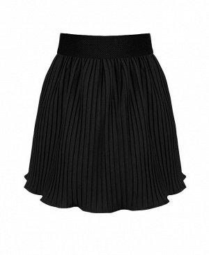 Школьная чёрная юбка для девочки Цвет: черный