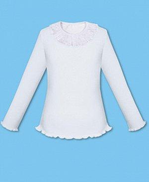 Белый школьный джемпер (блузка) для девочки Цвет: белый
