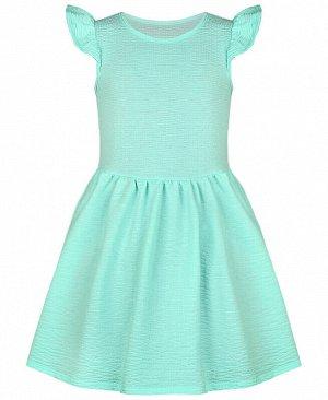 Платье с крылышками для девочки ментолового цвета Цвет: ментоловый