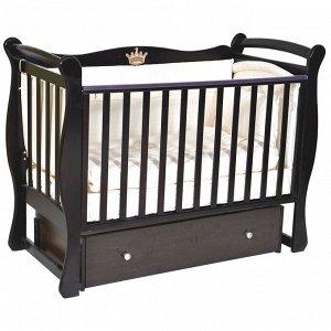 """Детская кровать """"Viola""""(1) автостенка,ящик,универс. маятник (шоколад) 13347"""