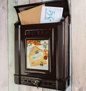 Ящик почтовый ДЕКОР вертикальный с замком 385х300х75мм пласт