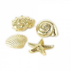 Декор 1013476 морские фигурки золото H3cm пластик