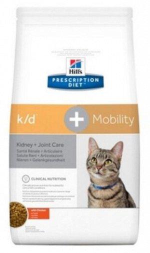Hill's Prescription Diet k/d+Mobility Kidney+Joint Care диета сухой корм для кошек при почечной недостаточности и поддержания метаболизма в суставах 2кг