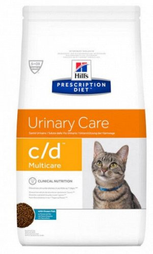 Hil's Urinary Care Multicare c/d диета сухой корм для кошек при заболеваниях мочевыводящих путей Рыба 1,5кг