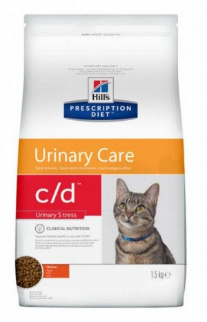Hill's C/D Urinary Stress диета сухой корм для кошек 1,5кг
