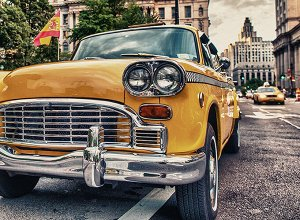 Фотообои Желтое такси