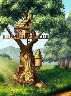 Фотообои Домик на дереве