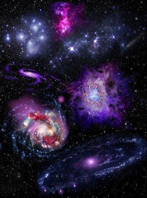 Фотообои Яркие галактики